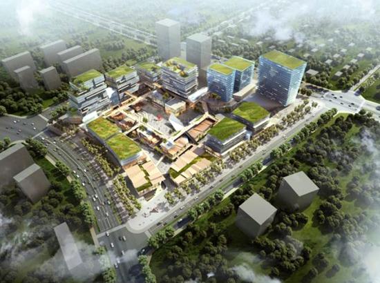 由超高层钢结构办公楼,配套地下车库,宿舍及数据中心,融合了数据中心